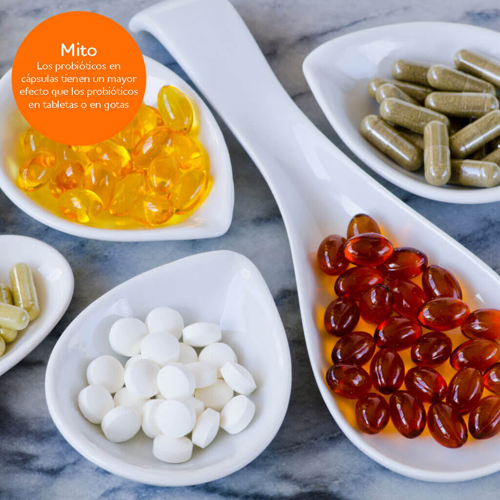 Probiotic myth: Probiotic capsules have better effect